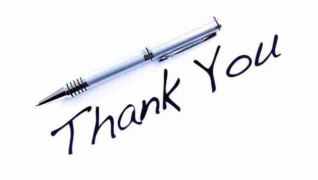 "Image of a pen with ""Thank You"" written under it"